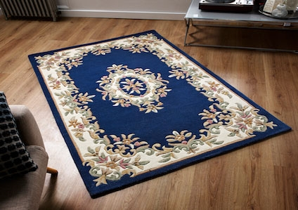 ROYAL AUBUSSON  BLUE RUG