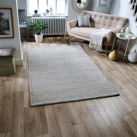 ASHTON Grey 100 % felted Wool Rugs