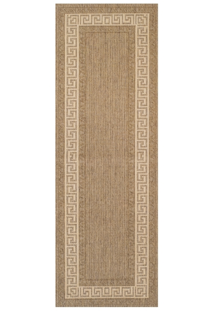 Greek key flatweave anti slip Natural Runner