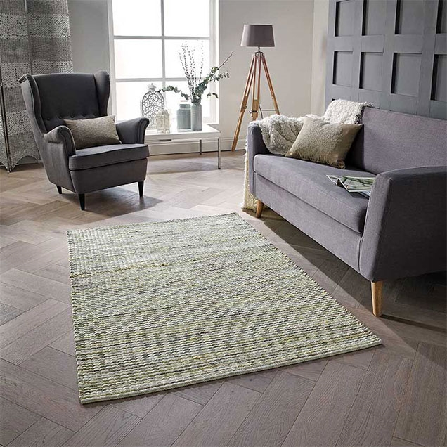 Harper Green Wool Rug
