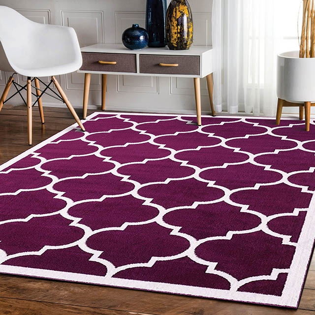 Trendy With Border Purple Modern Rug