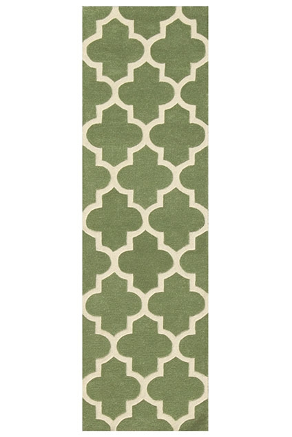 Arabesque Sage Green Runner