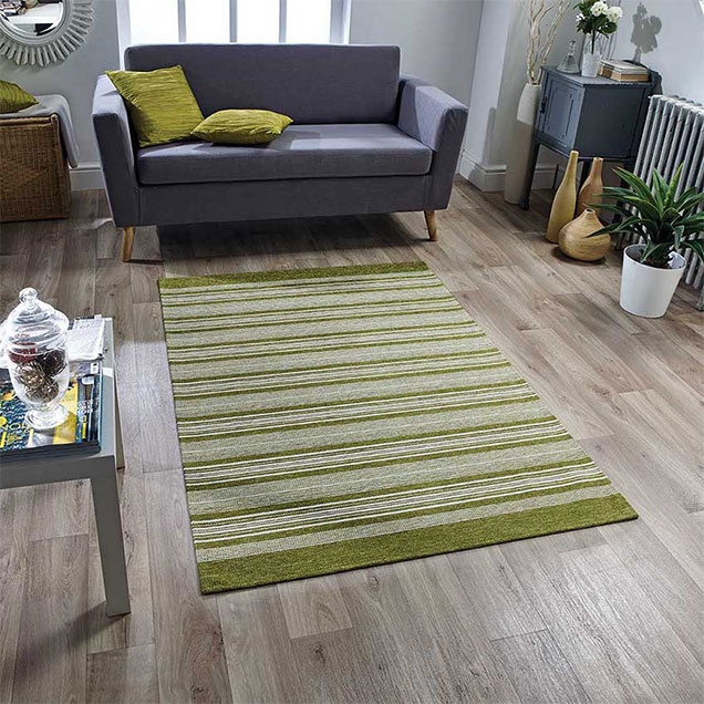 Pacific 129 X Anti slip Green Rug