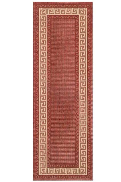 Greek key flatweave anti slip Runner