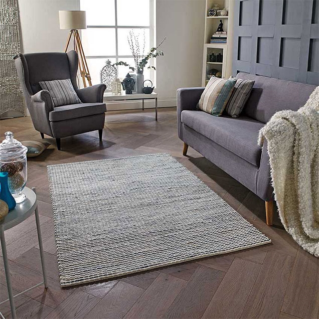 Harper Grey Wool Rug