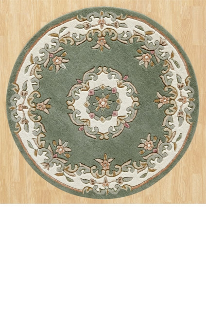 ROYAL  AUBUSSON GREEN CIRCLE