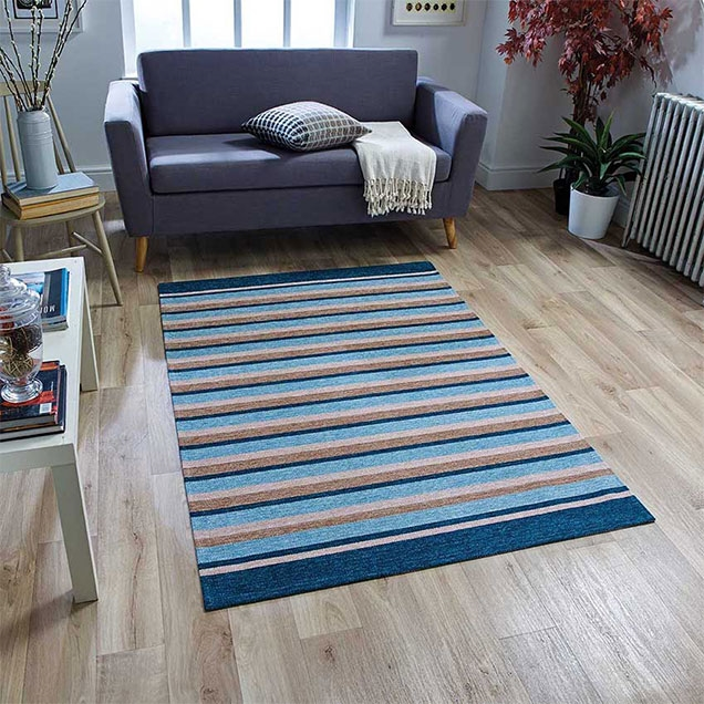 Pacific 176 X Anti slip blue Rug