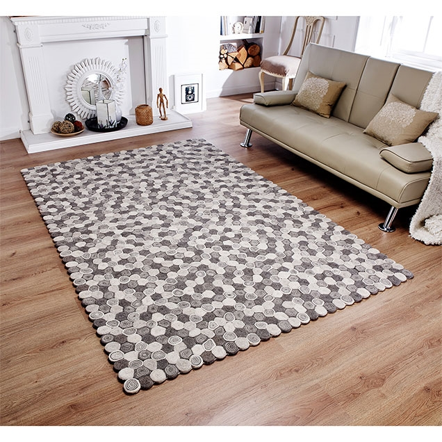 Sushi Natural Grey wool Rug