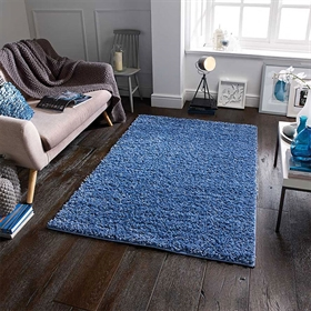 ELSA DENIM BLUE SHAGGY  RUG