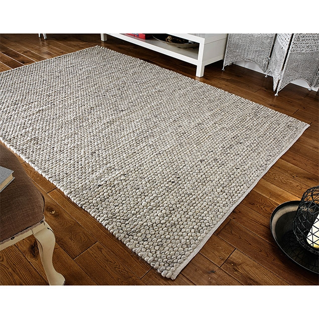 SAVANNAH GREY WOOL RUG