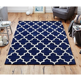 ARABESQUE BLUE WOOL RUGS