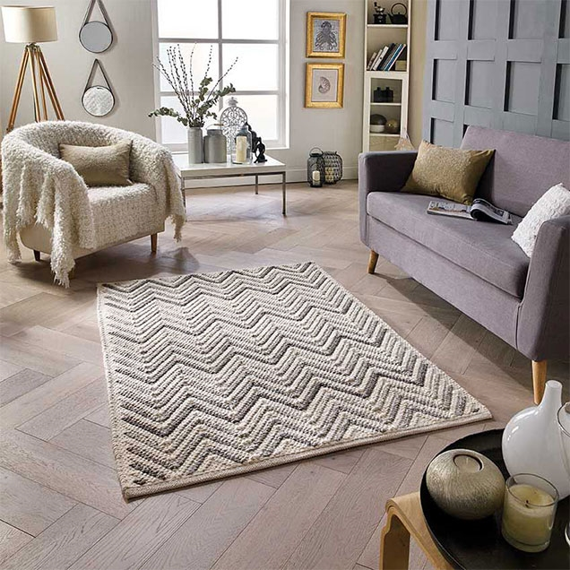SAVANNAH CHEVRON WOOL  RUG