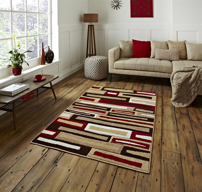 Matrix FR 40 Beige/Red Rug