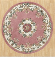 ROSE AUBUSSON CIRCLE RUG