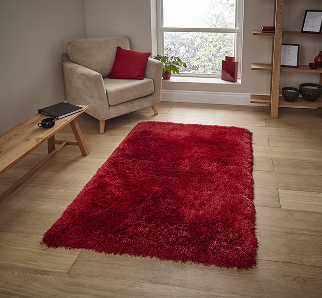 Montana Red  Shaggy Rug