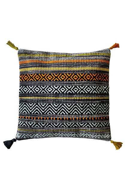 KELIM STRIPES CHARCOAL CUSHION