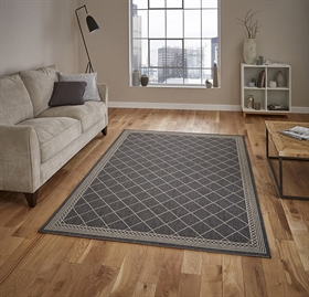 Cottage CT7643 Anthracite Sand Flatweave Rugs