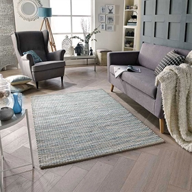 Harper Blue Wool Rug