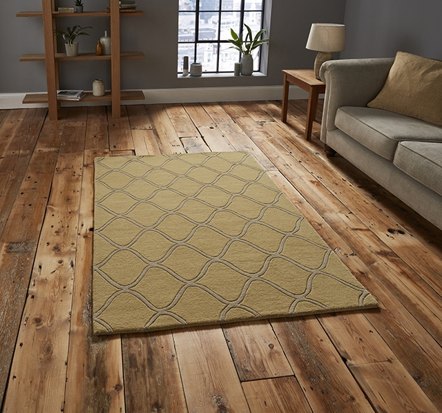 Elements EL 65 Yellow Wool Rug