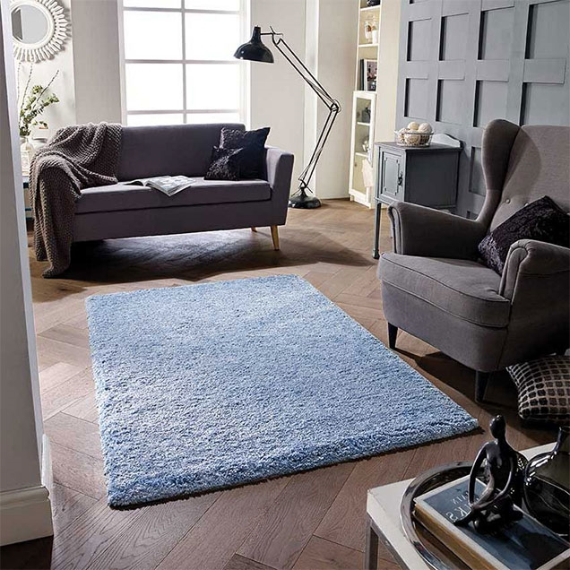 SOFTNESS DENIM BLUE SHAGGY RUG
