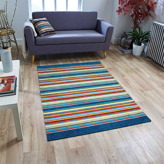 Pacific 71 X ANTI SLIP BLUE RUG