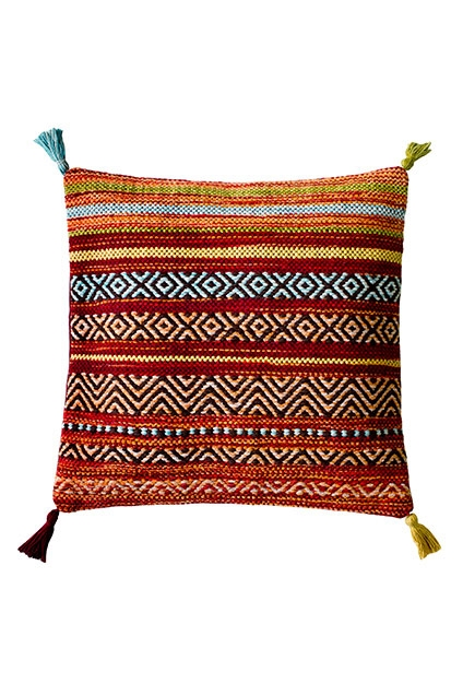 KELIM STRIPES RED CUSHION