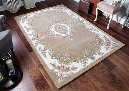 ROYAL AUBUSSON  BEIGE RUG