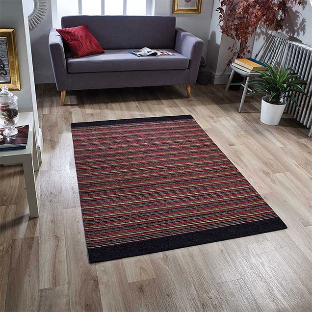 Pacific 120 X Anti Slip Red Rug