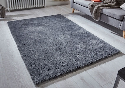 SOFTNESS CHARCOAL SHAGGY RUG