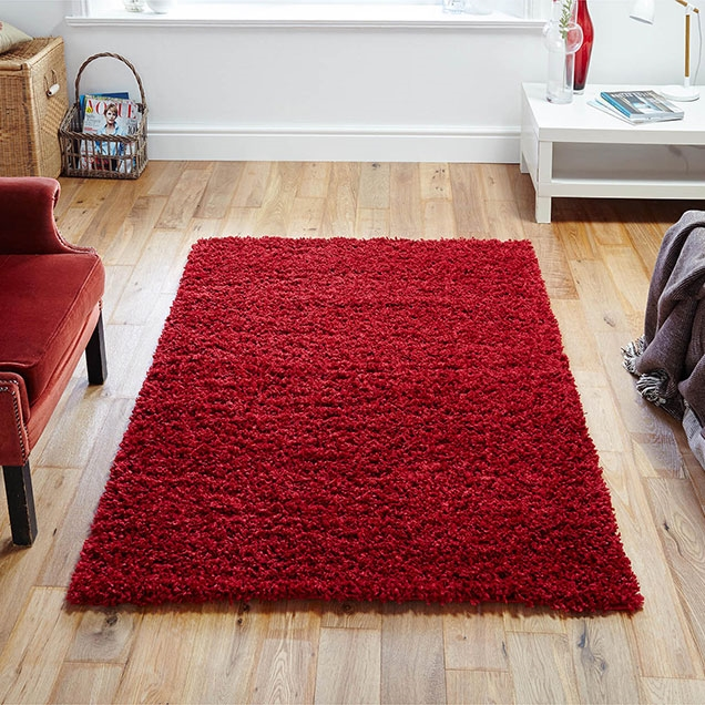 ELSA RED SHAGGY RUG