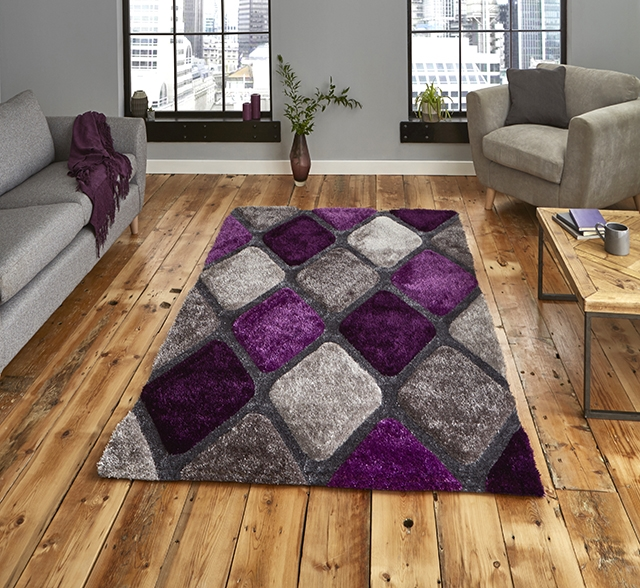 Noble House 9247 Grey/Purple