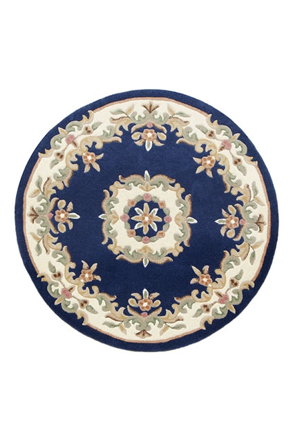 ROYAL AUBUSSON BLUE CIRCLE RUG