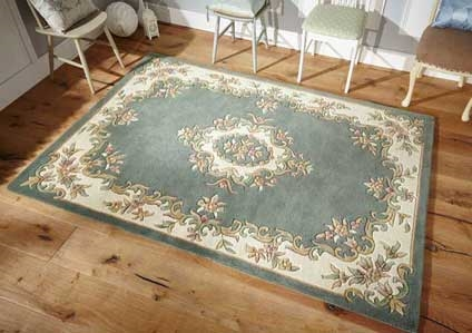 ROYAL AUBUSSON GREEN RUG