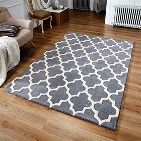 ARABESQUE GREY WOOL RUGS