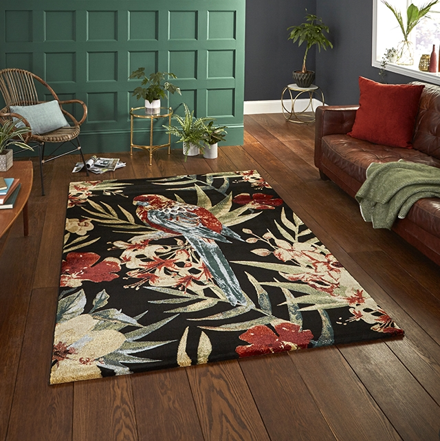 Tropics 6093 Black/Multi Rugs