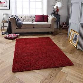 HARMON Ruby Red Shaggy Rug