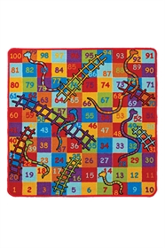 Playtime Snakes And Ladders Kids Rug