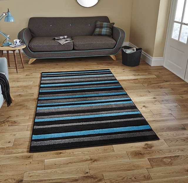 Matrix MT22 Black/Blue Rug