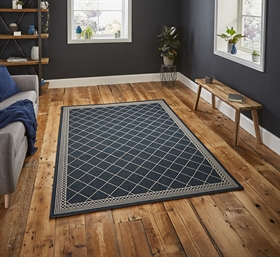 Cottage CT7643 Midnight Blue Flatweave Rugs