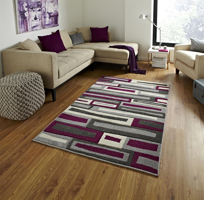 Matrix FR 40 Grey/Purple Rug
