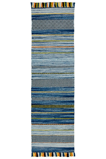 KELIM STRIPES BLUE RUNNER