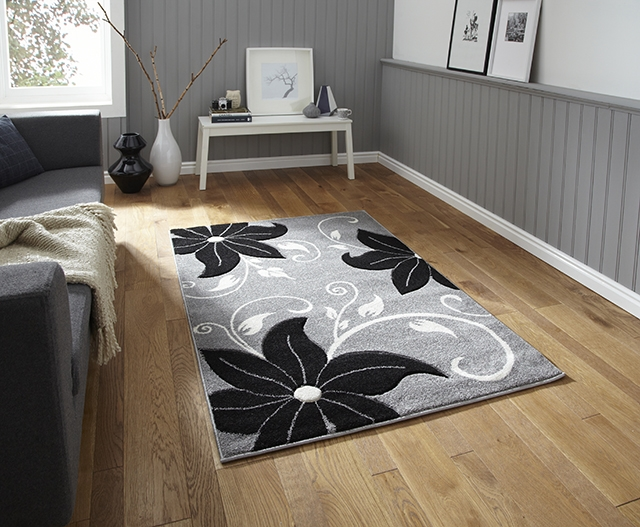 Verona OC15 Grey/Black Rug