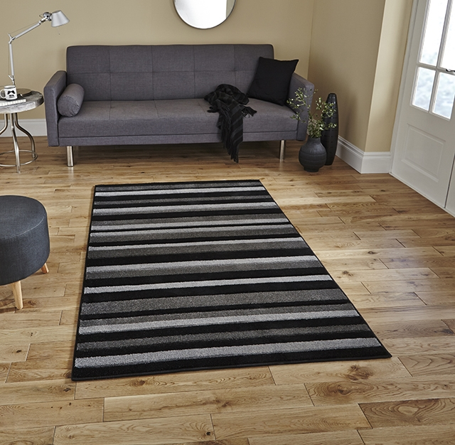 Matrix MT22 Black/Grey Rug