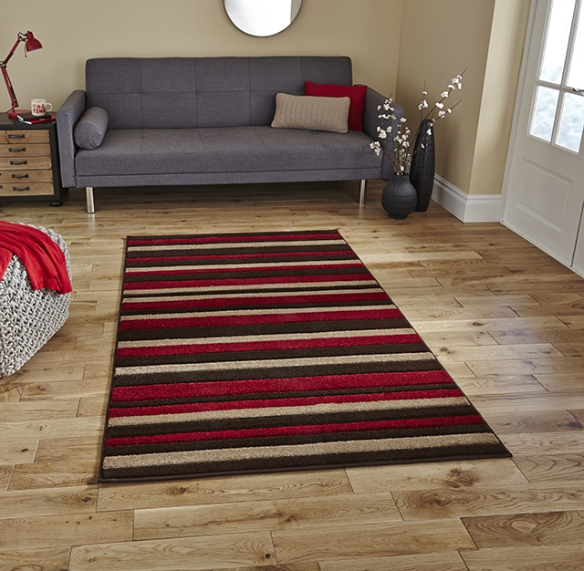 Matrix MT22 Brown/Red Rug