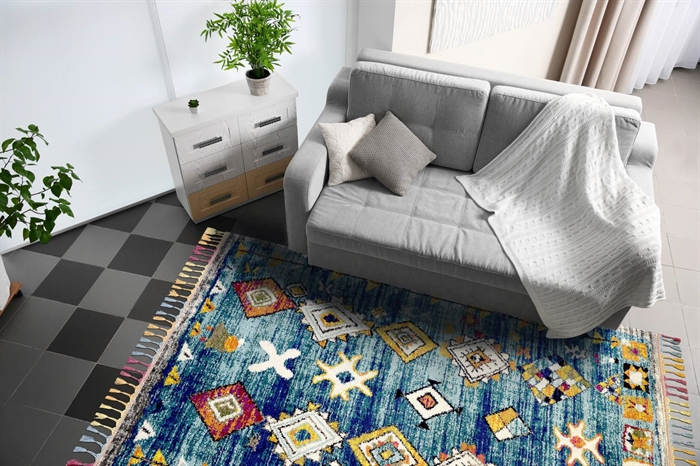 ROYAL MARRAKECH 2207b turquoise-grey rug