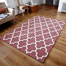 ARABESQUE ROSE 100% Wool Rug