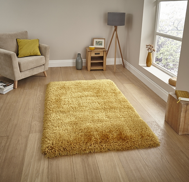 Montana Yellow Shaggy Rug