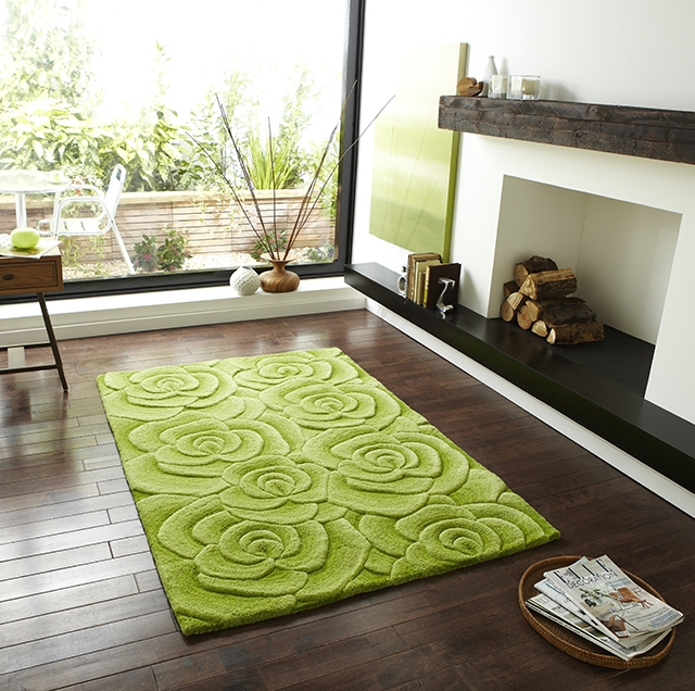 Valentine VL 10 Green wool Rugs