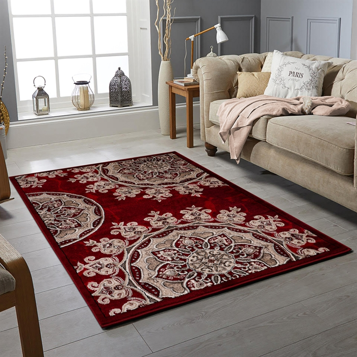 SAHARA RED MODERN  RUGS