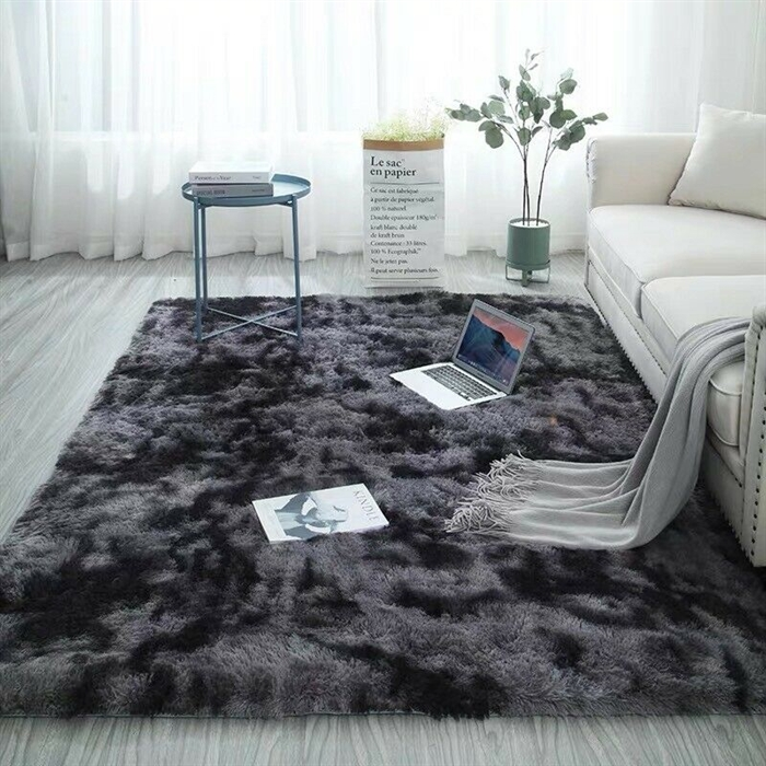 Softness  Dark Grey Shaggy Rug